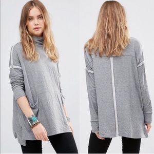 Free people gray turtleneck sweater size XS